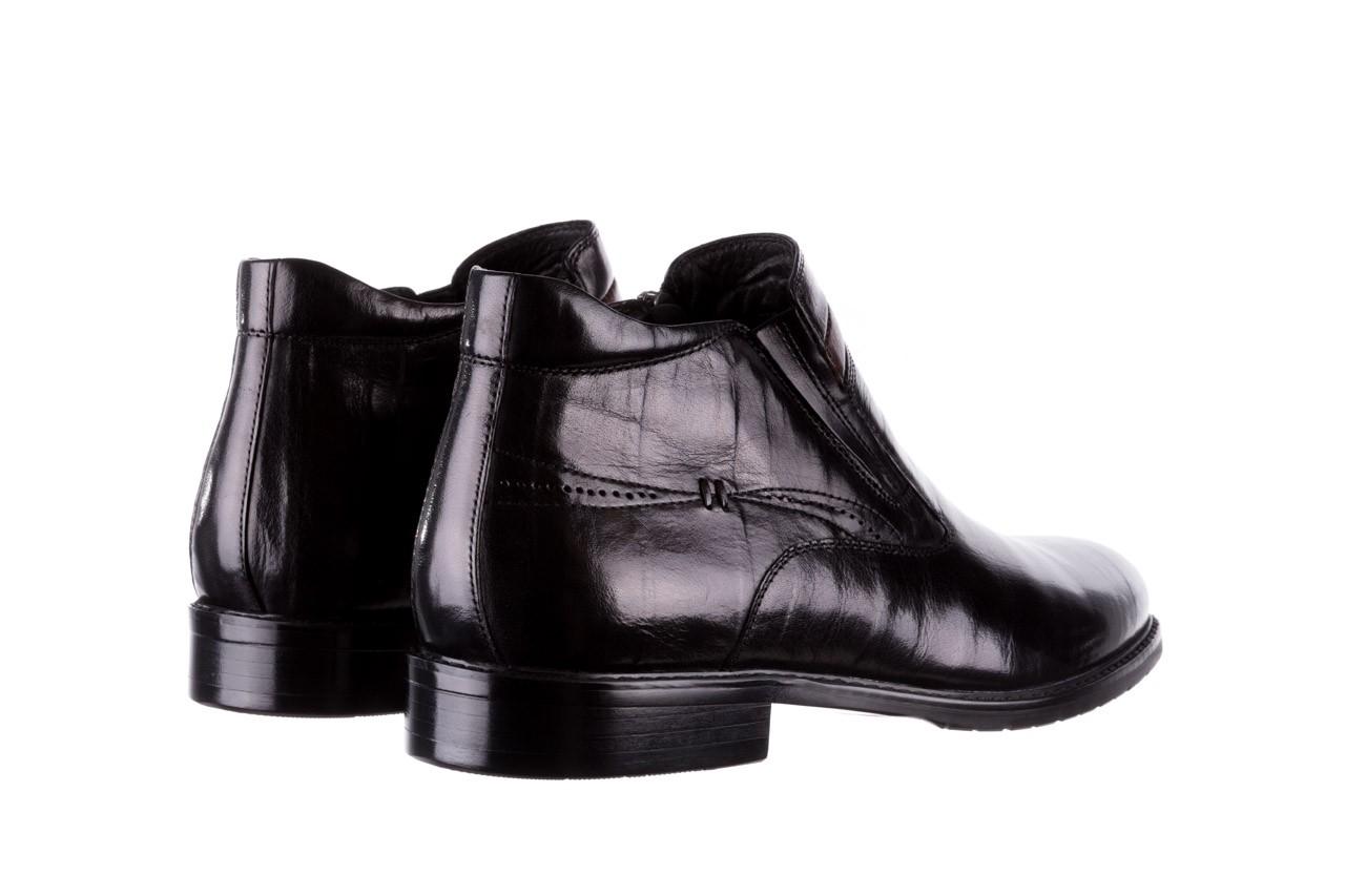Trzewiki john doubare ygfr-z106-305-1 black, czarny, skóra naturalna  - buty męskie - mężczyzna 10