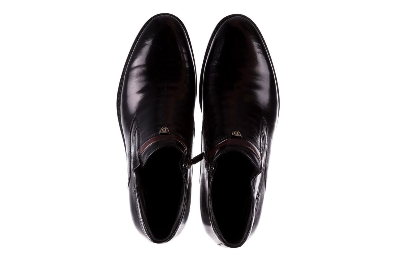 Trzewiki john doubare ygfr-z106-305-1 black, czarny, skóra naturalna  - buty męskie - mężczyzna 11