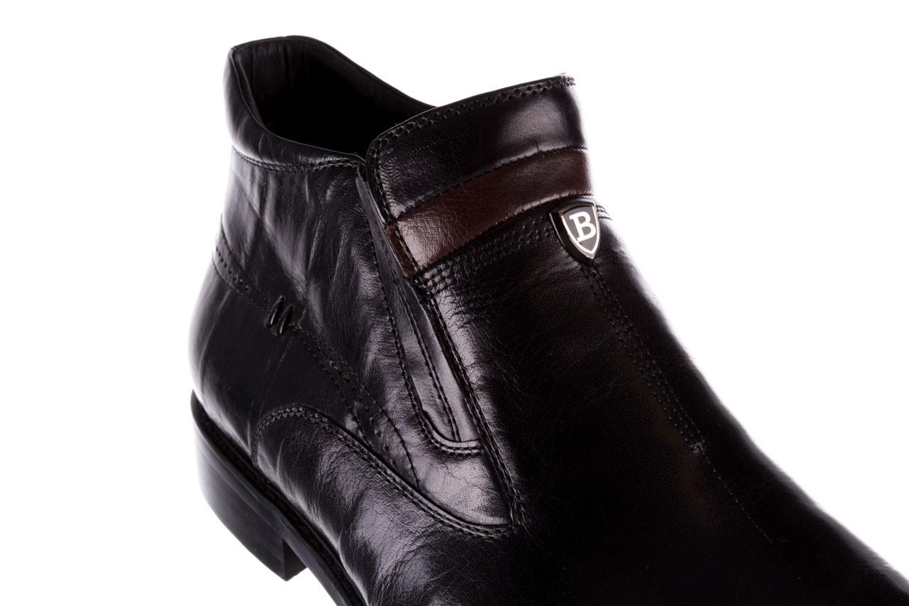 Trzewiki john doubare ygfr-z106-305-1 black, czarny, skóra naturalna  - buty męskie - mężczyzna 12