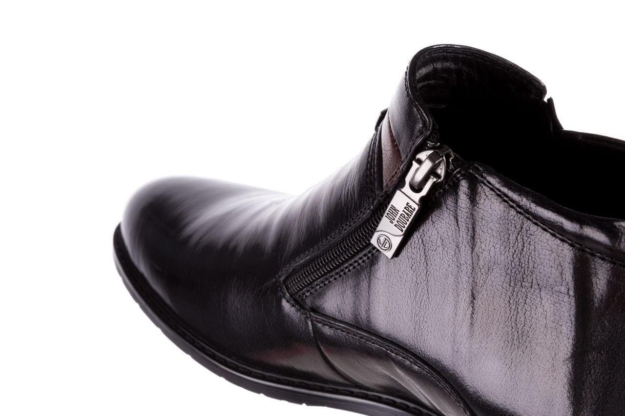 Trzewiki john doubare ygfr-z106-305-1 black, czarny, skóra naturalna  - buty męskie - mężczyzna 13