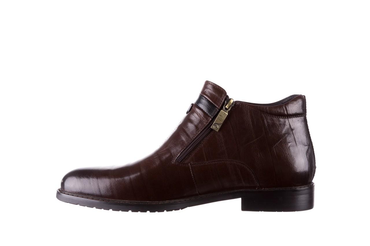 Trzewiki john doubare ygfr-z106-306-2 brown, brązowy, skóra naturalna  - sale - buty męskie - mężczyzna 10