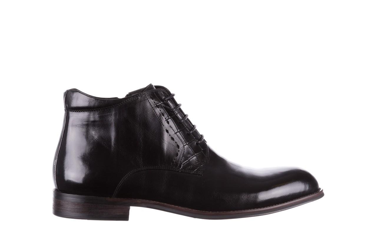 Trzewiki brooman l9002-26-a13-r black, czarny, skóra naturalna  - półbuty - buty męskie - mężczyzna 8