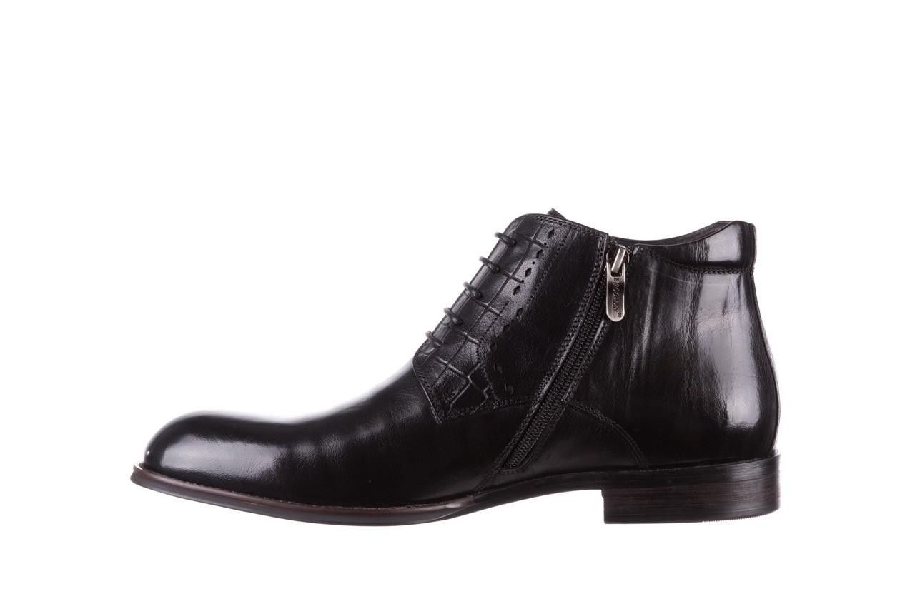 Trzewiki brooman l9002-26-a13-r black, czarny, skóra naturalna  - półbuty - buty męskie - mężczyzna 10