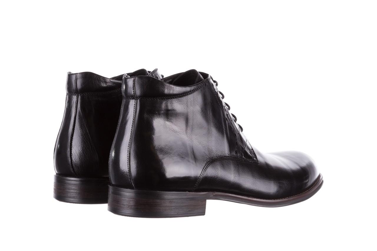 Trzewiki brooman l9002-26-a13-r black, czarny, skóra naturalna  - sale - buty męskie - mężczyzna 11