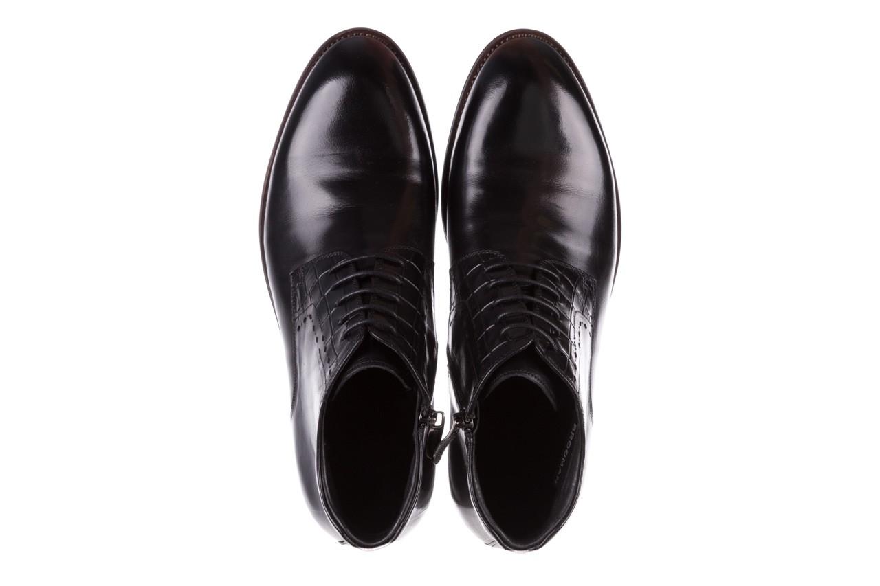Trzewiki brooman l9002-26-a13-r black, czarny, skóra naturalna  - półbuty - buty męskie - mężczyzna 12