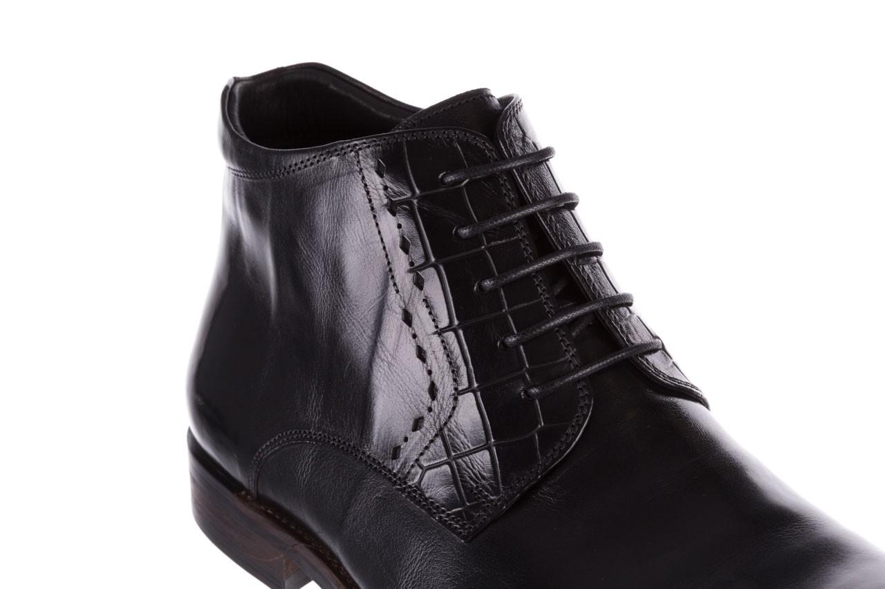 Trzewiki brooman l9002-26-a13-r black, czarny, skóra naturalna  - półbuty - buty męskie - mężczyzna 13