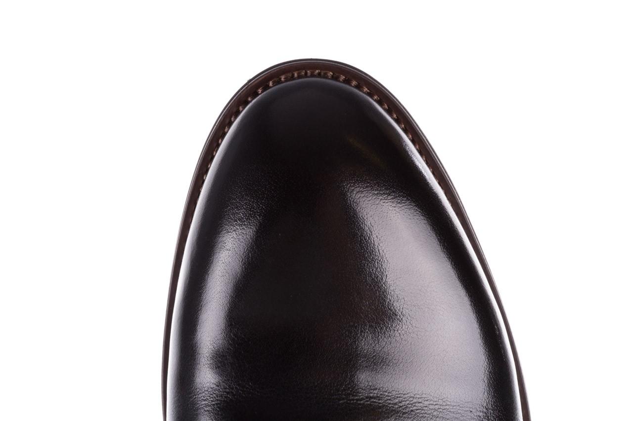 Trzewiki brooman l9002-26-a13-r black, czarny, skóra naturalna  - półbuty - buty męskie - mężczyzna 15