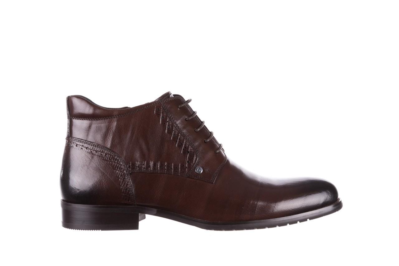 Trzewiki brooman h810-310-p3r brown, brązowy, skóra naturalna  - buty męskie - mężczyzna 8