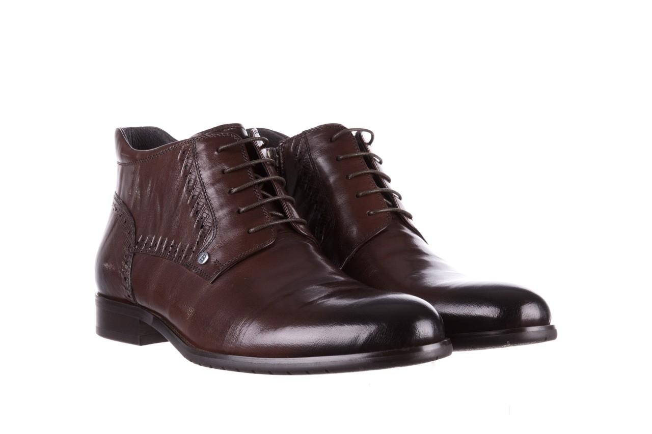 Trzewiki brooman h810-310-p3r brown, brązowy, skóra naturalna  - buty męskie - mężczyzna 9