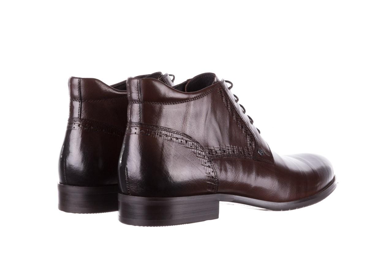 Trzewiki brooman h810-310-p3r brown, brązowy, skóra naturalna  - buty męskie - mężczyzna 11
