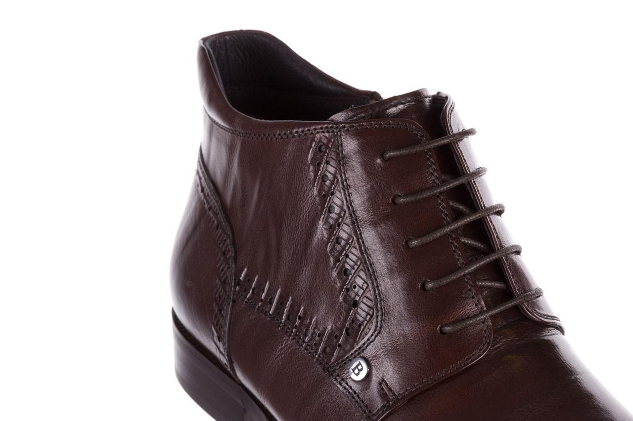 Trzewiki brooman h810-310-p3r brown, brązowy, skóra naturalna  - buty męskie - mężczyzna 13