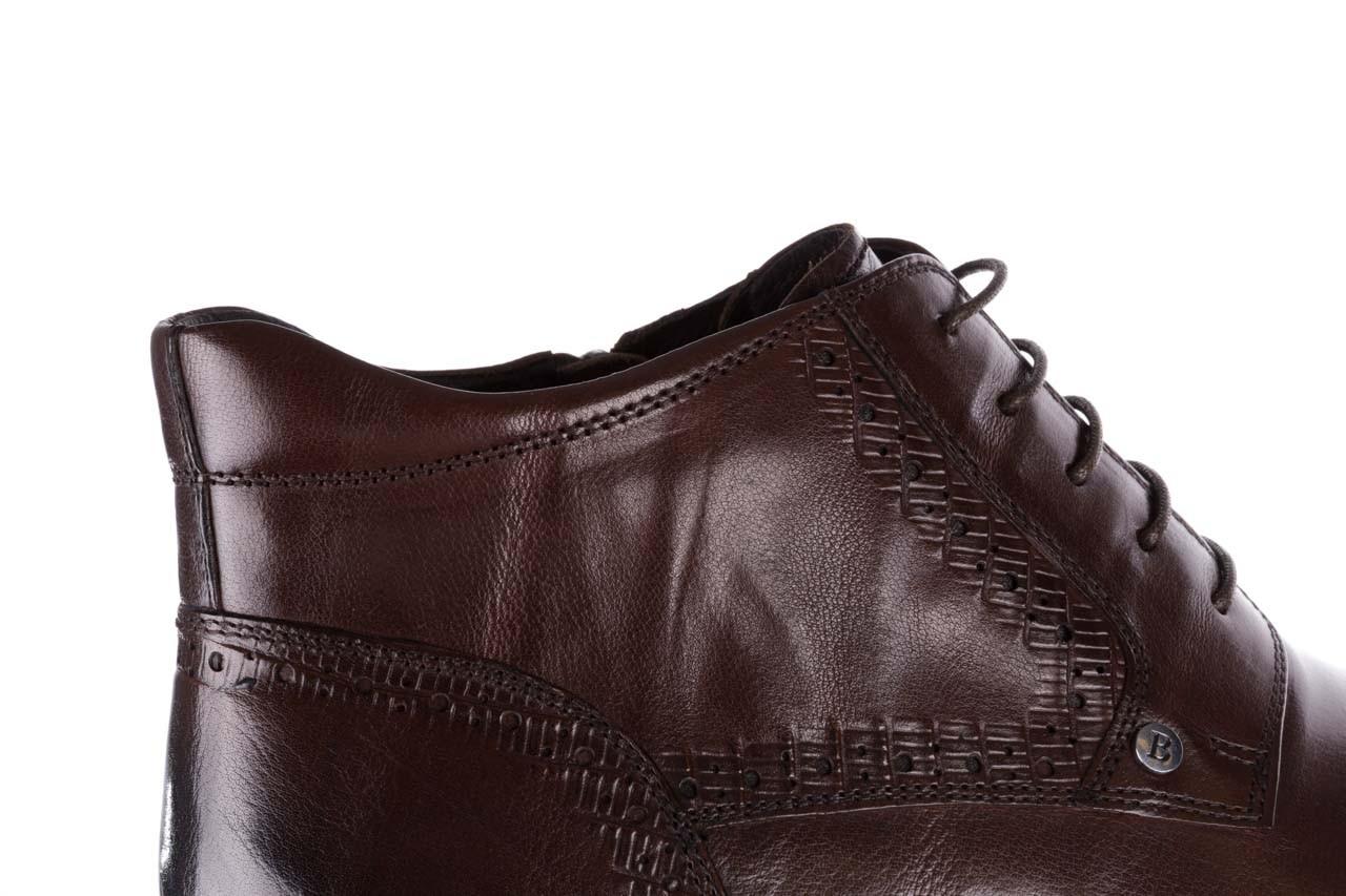 Trzewiki brooman h810-310-p3r brown, brązowy, skóra naturalna  - buty męskie - mężczyzna 15