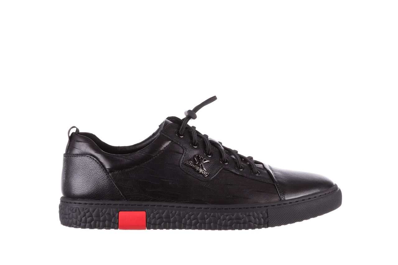 Trampki john doubare 10716-2 black, czarny, skóra naturalna  - niskie - trampki - buty męskie - mężczyzna 10