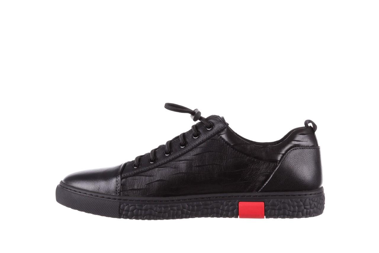 Trampki john doubare 10716-2 black, czarny, skóra naturalna  - niskie - trampki - buty męskie - mężczyzna 12