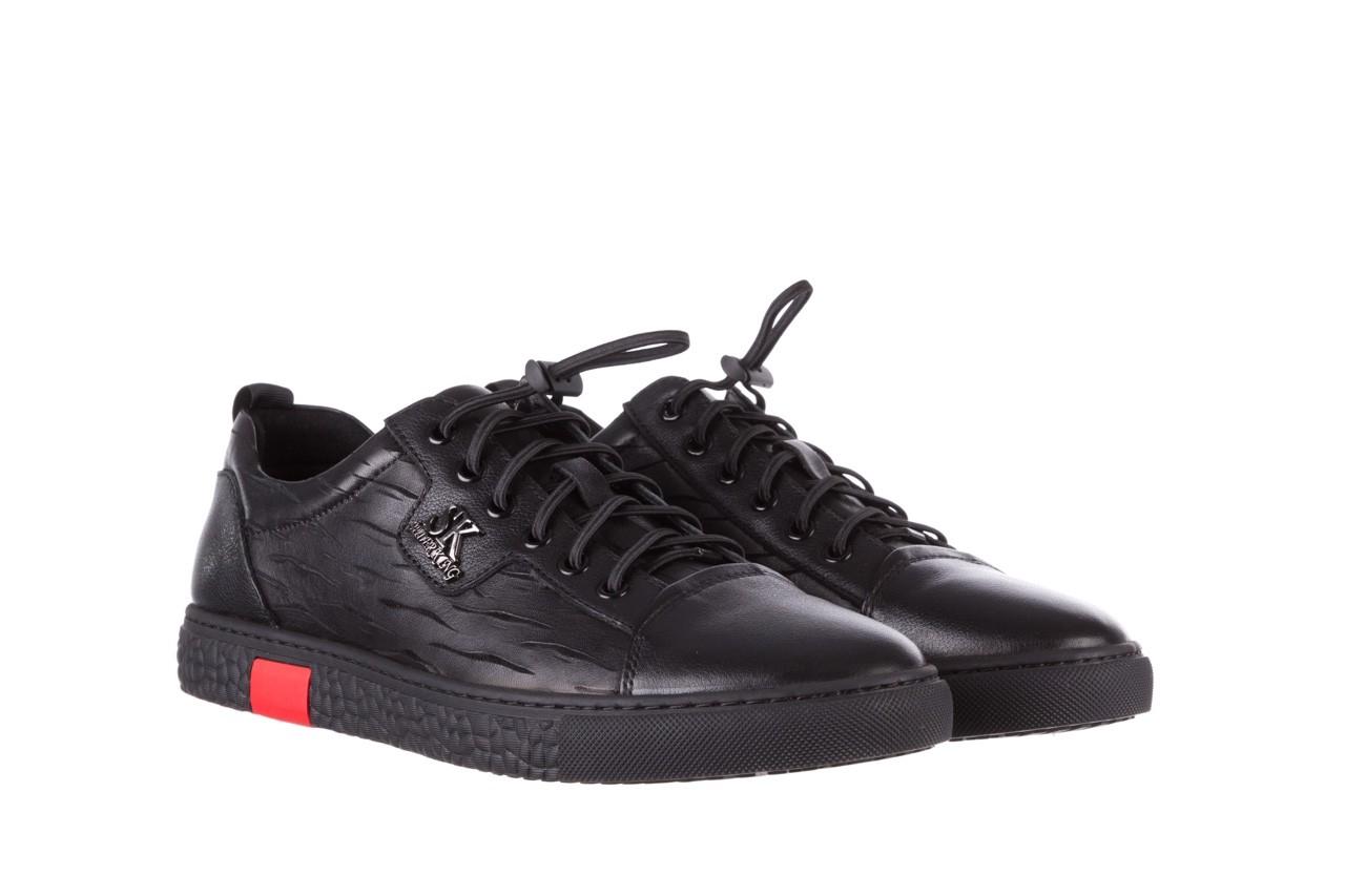 Trampki john doubare 10716-2 black, czarny, skóra naturalna  - niskie - trampki - buty męskie - mężczyzna 11