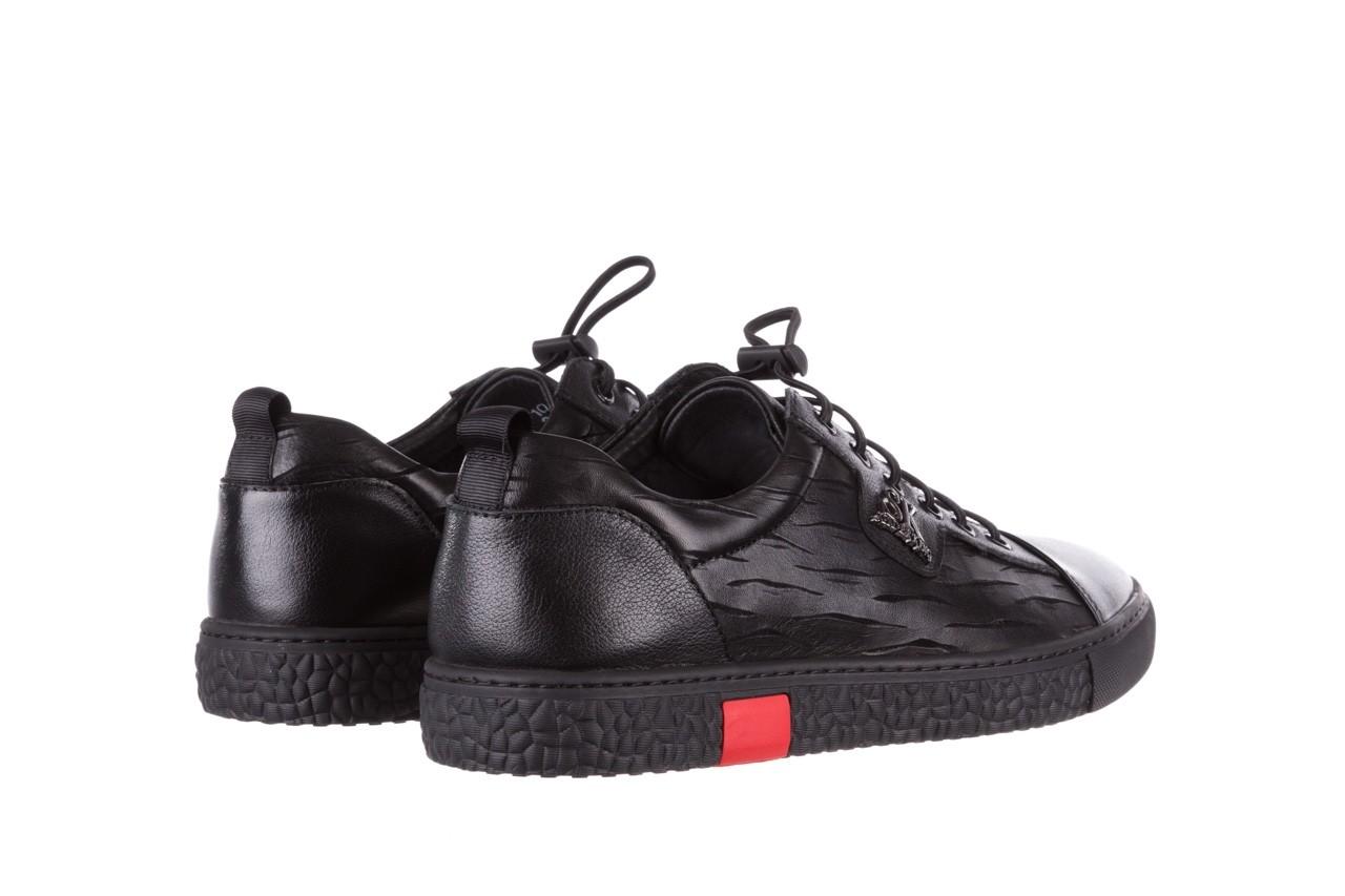 Trampki john doubare 10716-2 black, czarny, skóra naturalna  - niskie - trampki - buty męskie - mężczyzna 13