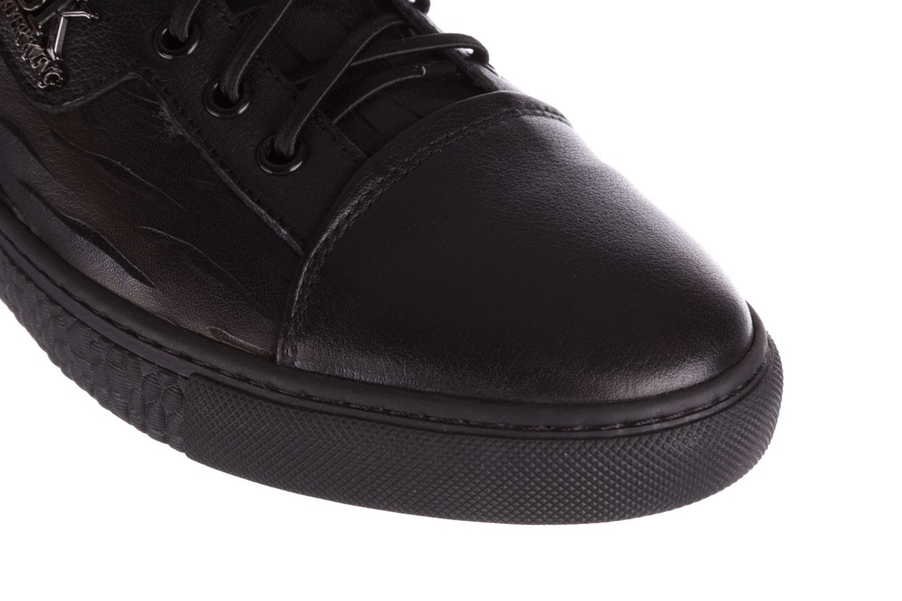 Trampki john doubare 10716-2 black, czarny, skóra naturalna  - niskie - trampki - buty męskie - mężczyzna 15