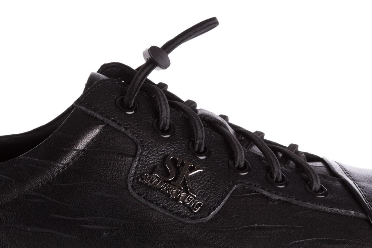 Trampki john doubare 10716-2 black, czarny, skóra naturalna  - niskie - trampki - buty męskie - mężczyzna 16