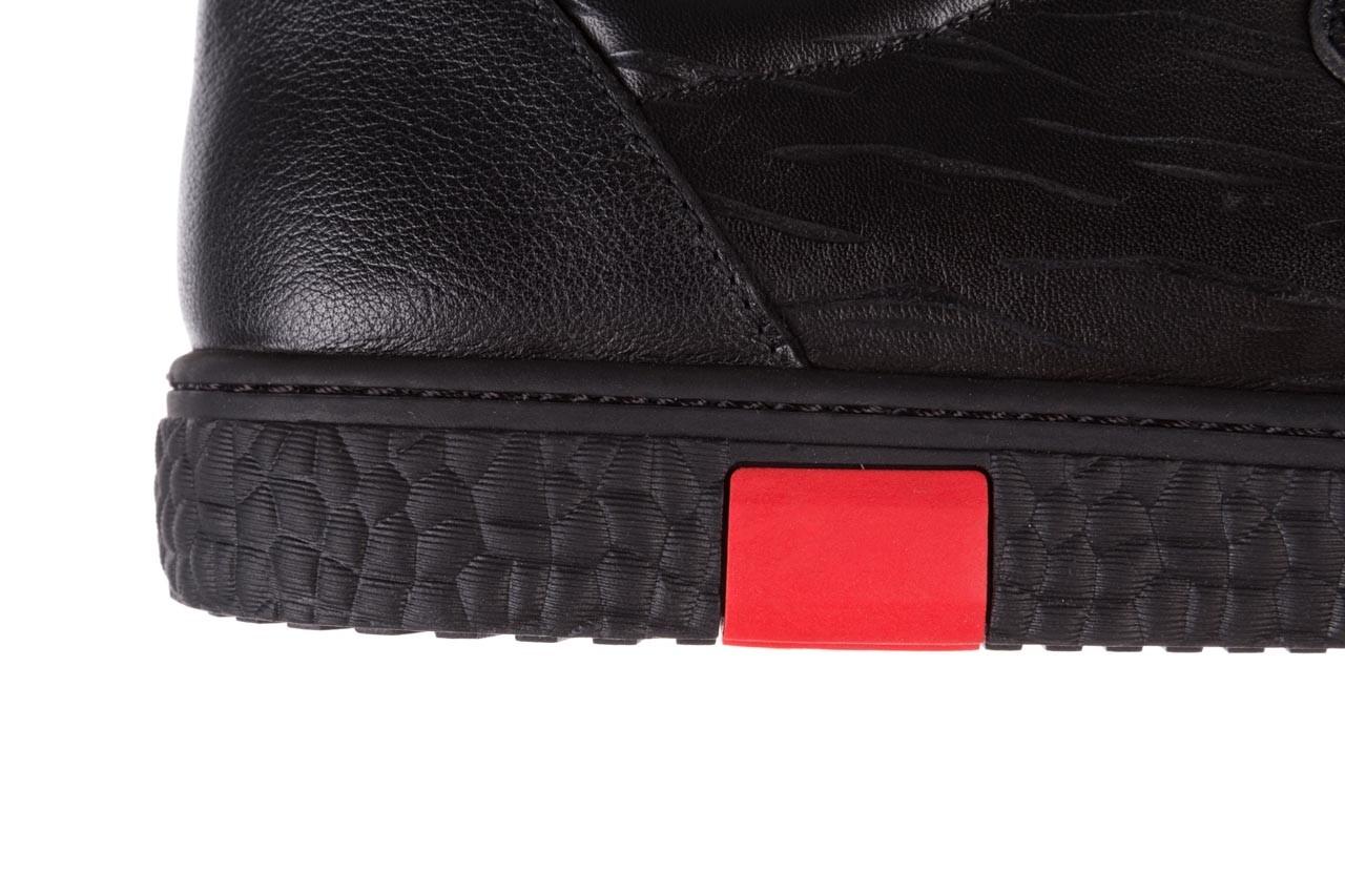Trampki john doubare 10716-2 black, czarny, skóra naturalna  - niskie - trampki - buty męskie - mężczyzna 17