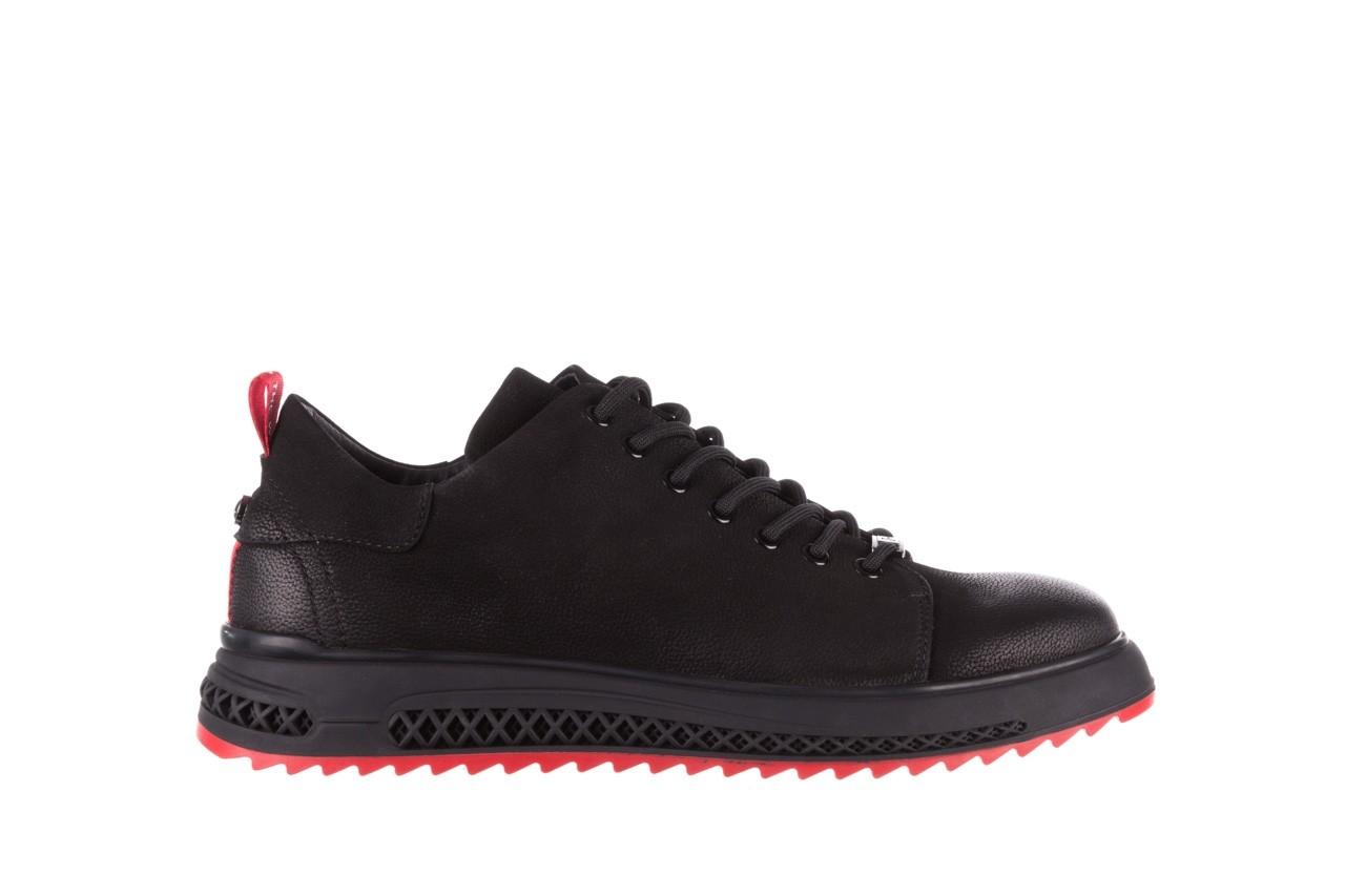 Trampki john doubare 1981-1m black, czarny, skóra naturalna   - buty męskie - mężczyzna 10