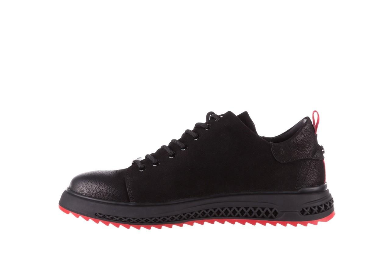 Trampki john doubare 1981-1m black, czarny, skóra naturalna   - buty męskie - mężczyzna 12