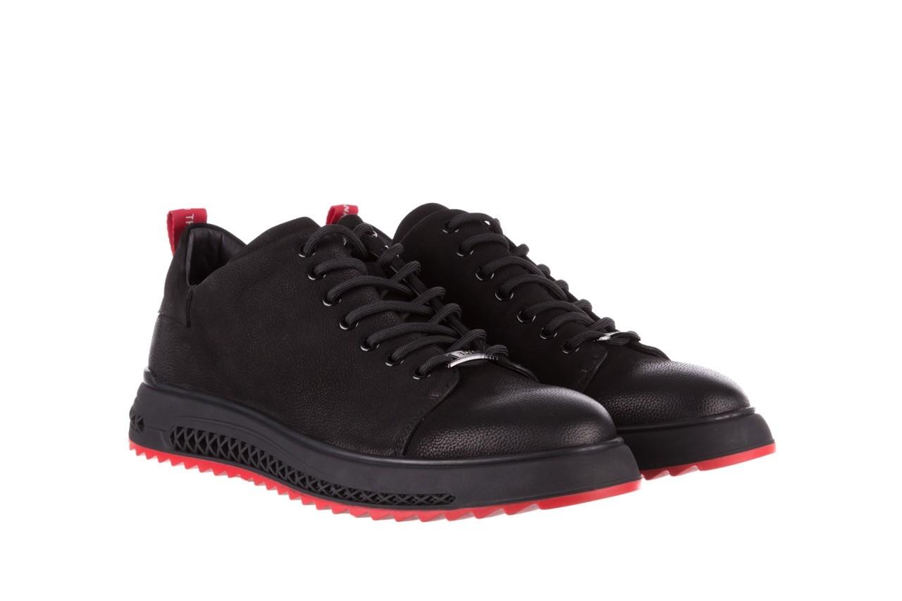 Trampki john doubare 1981-1m black, czarny, skóra naturalna   - buty męskie - mężczyzna 11