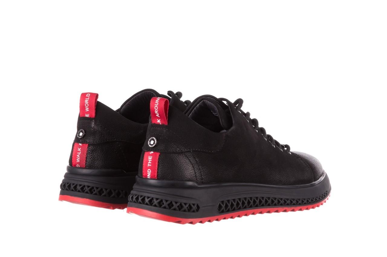 Trampki john doubare 1981-1m black, czarny, skóra naturalna   - buty męskie - mężczyzna 13