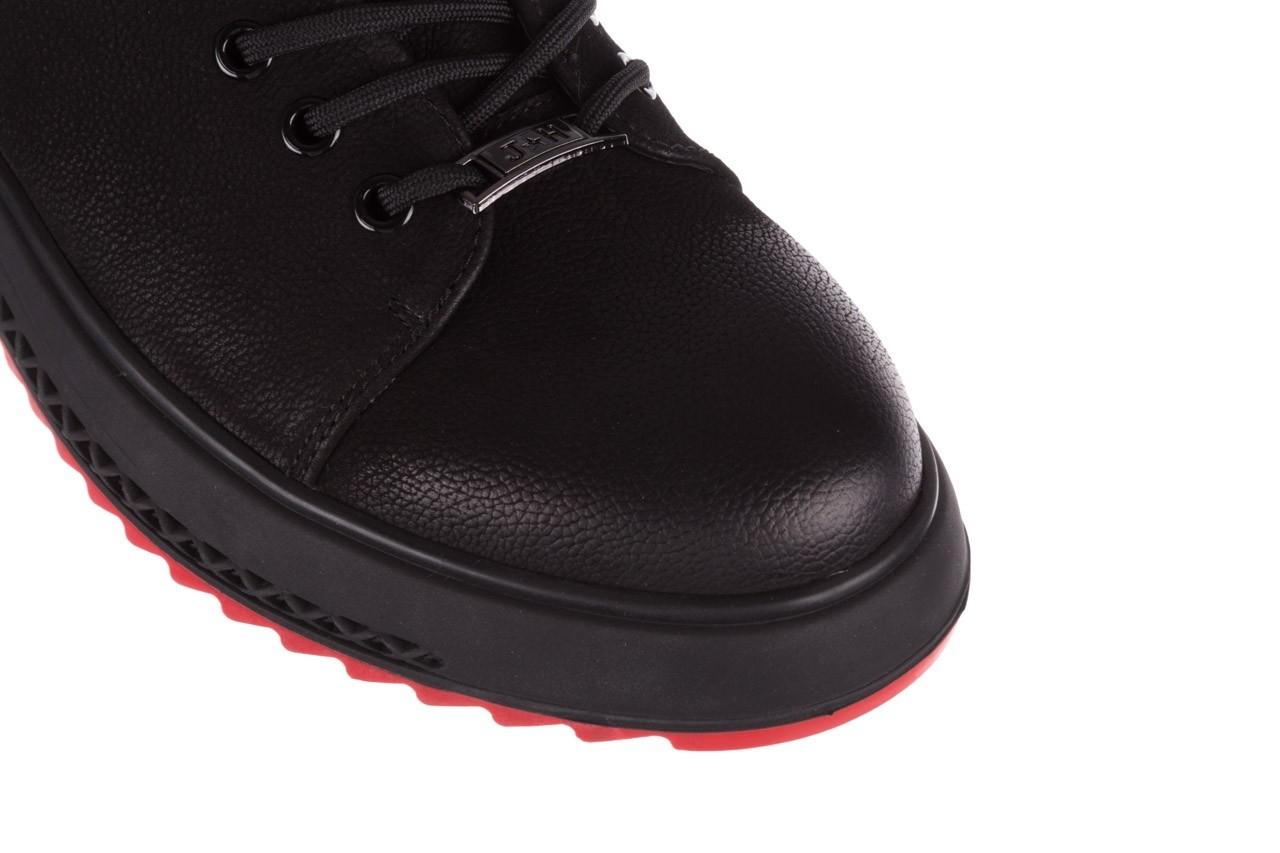 Trampki john doubare 1981-1m black, czarny, skóra naturalna   - buty męskie - mężczyzna 15