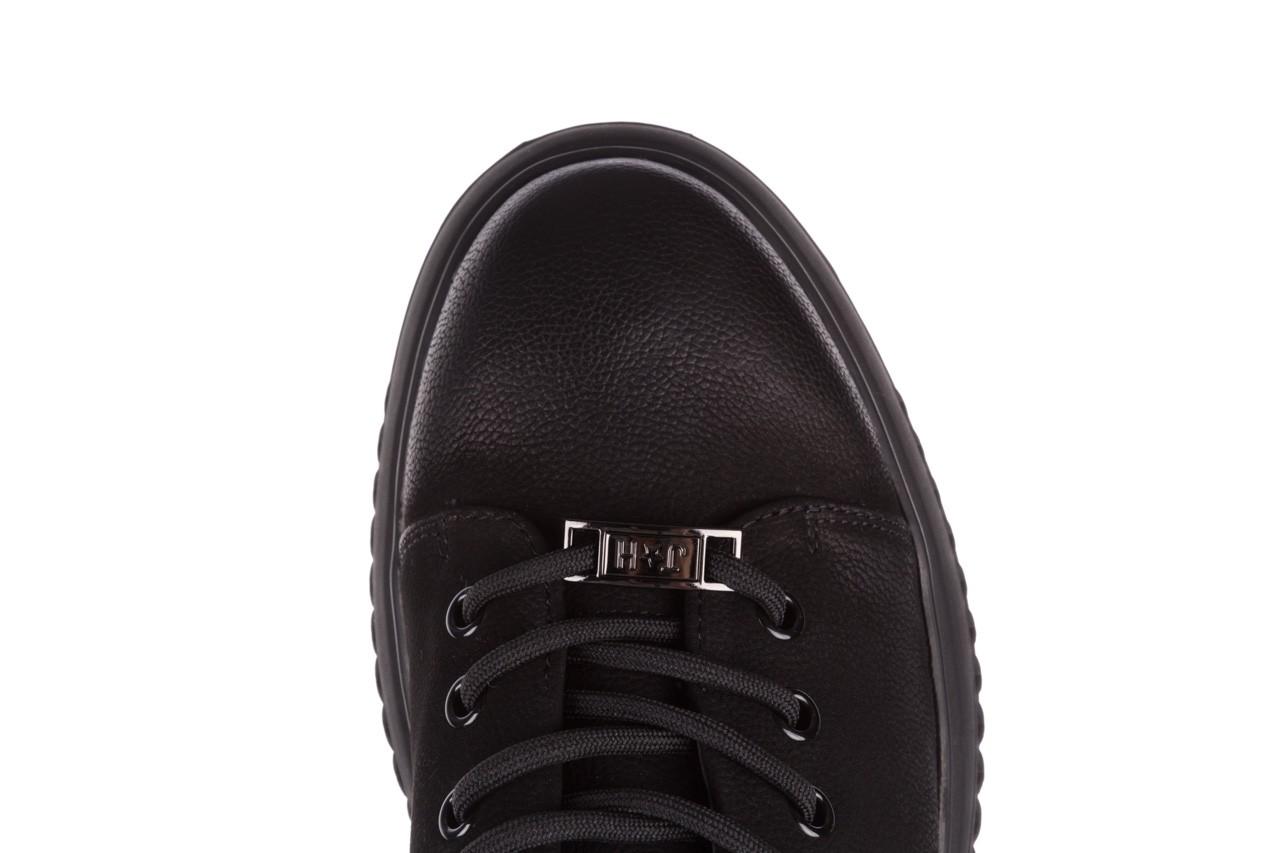 Trampki john doubare 1981-1m black, czarny, skóra naturalna   - buty męskie - mężczyzna 19