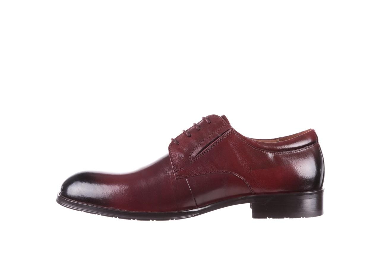 Półbuty brooman y008-27-a16 red, czerwony, skóra naturalna  - wizytowe - półbuty - buty męskie - mężczyzna 9