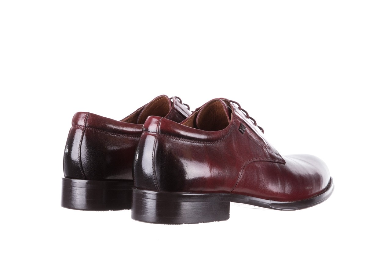 Półbuty brooman y008-27-a16 red, czerwony, skóra naturalna  - wizytowe - półbuty - buty męskie - mężczyzna 10