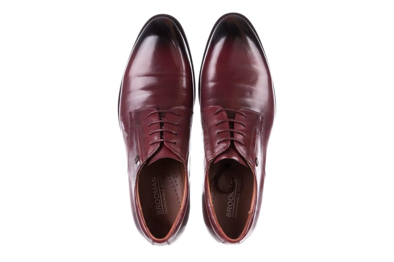 Półbuty brooman y008-27-a16 red, czerwony, skóra naturalna  - wizytowe - półbuty - buty męskie - mężczyzna 11