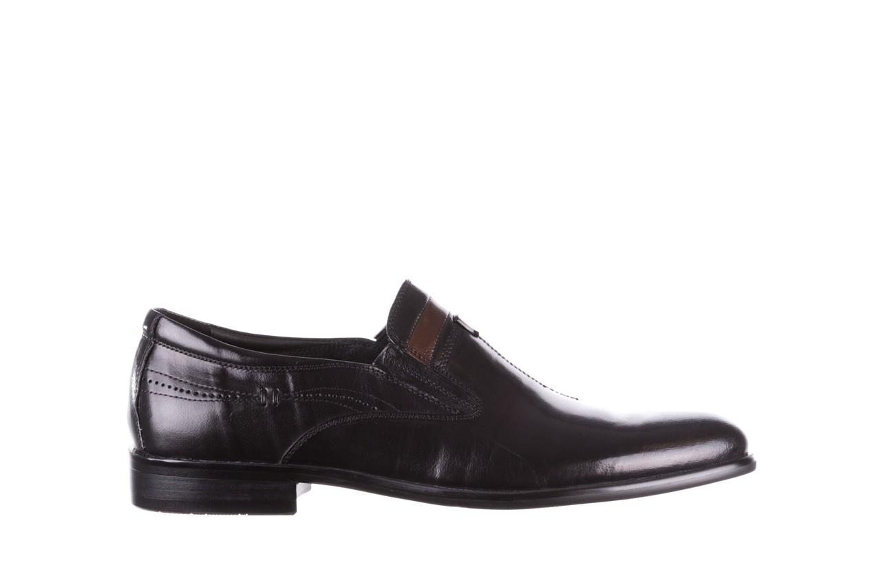 Półbuty john doubare ygc-z253-351-1 black, czarny, skóra naturalna  - buty męskie - mężczyzna 8