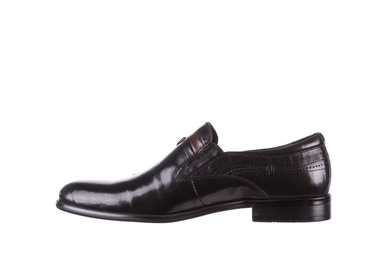 Półbuty john doubare ygc-z253-351-1 black, czarny, skóra naturalna  - buty męskie - mężczyzna 10