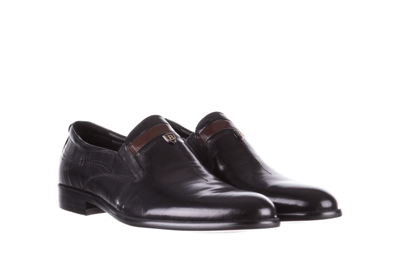 Półbuty john doubare ygc-z253-351-1 black, czarny, skóra naturalna  - buty męskie - mężczyzna 9