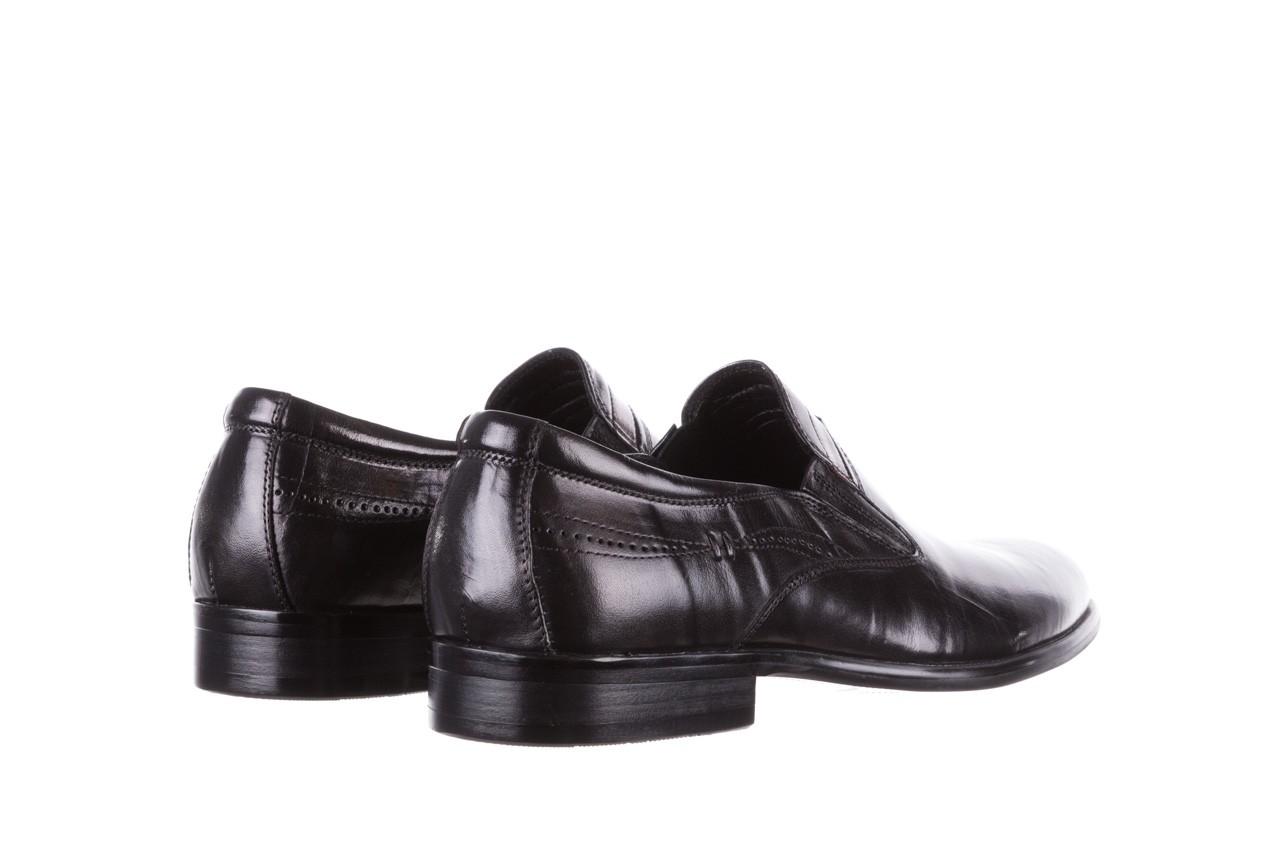 Półbuty john doubare ygc-z253-351-1 black, czarny, skóra naturalna  - buty męskie - mężczyzna 11