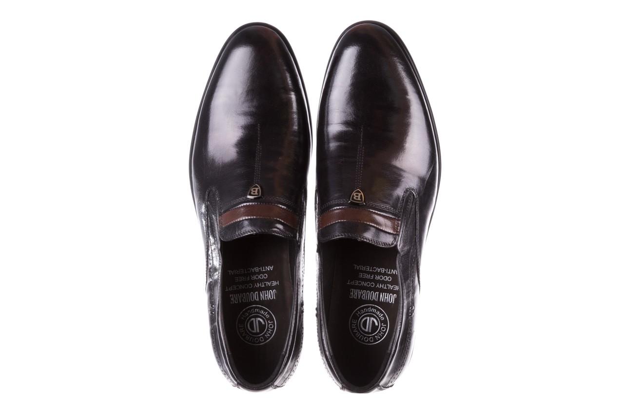 Półbuty john doubare ygc-z253-351-1 black, czarny, skóra naturalna  - buty męskie - mężczyzna 12