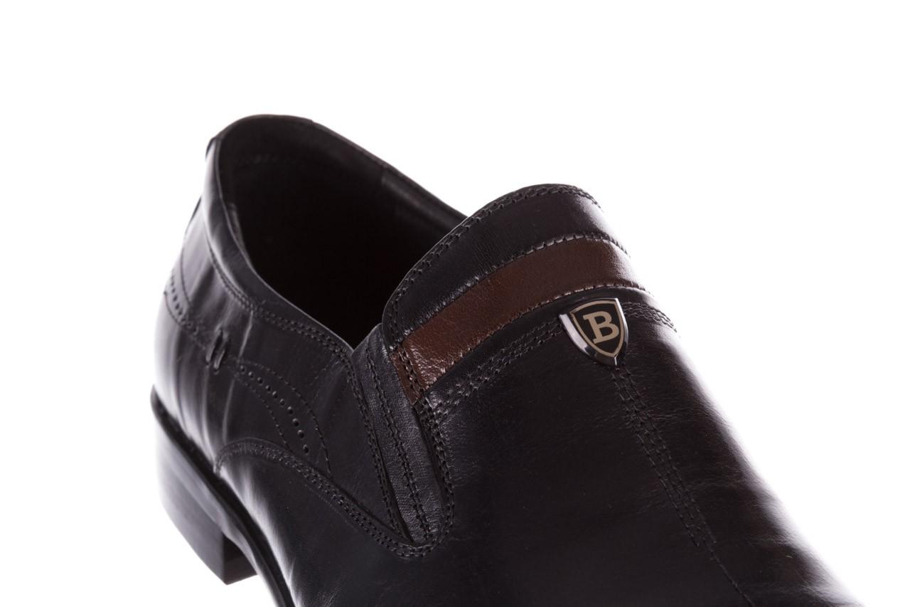 Półbuty john doubare ygc-z253-351-1 black, czarny, skóra naturalna  - buty męskie - mężczyzna 13