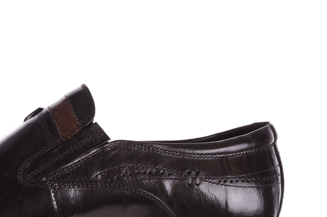 Półbuty john doubare ygc-z253-351-1 black, czarny, skóra naturalna  - buty męskie - mężczyzna 14