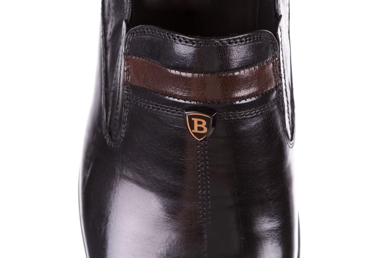 Półbuty john doubare ygc-z253-351-1 black, czarny, skóra naturalna  - buty męskie - mężczyzna 15