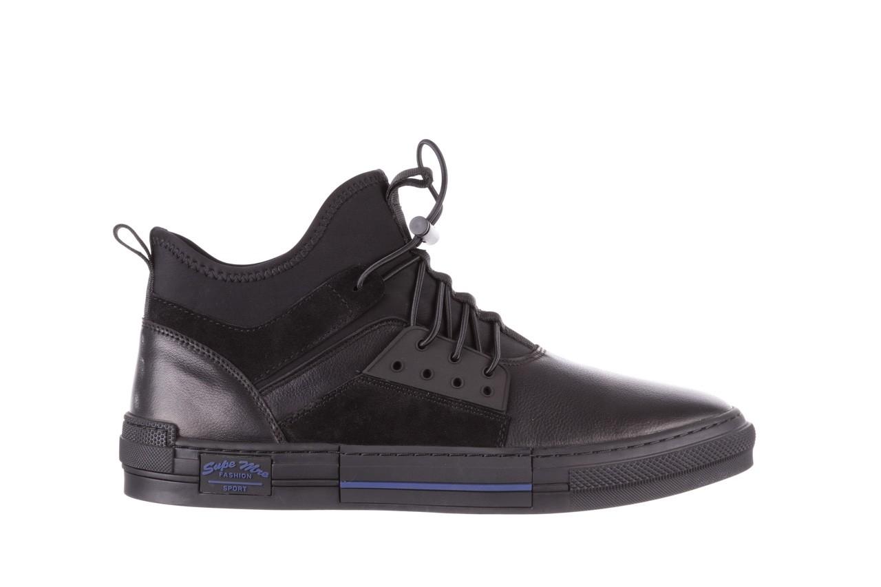Trampki brooman x21f30r-1 black, czarny, skóra naturalna  - wysokie - trampki - buty męskie - mężczyzna 9