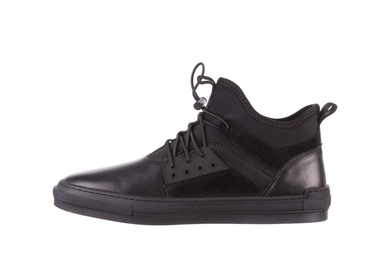 Trampki brooman x21f30r-1 black, czarny, skóra naturalna  - wysokie - trampki - buty męskie - mężczyzna 11