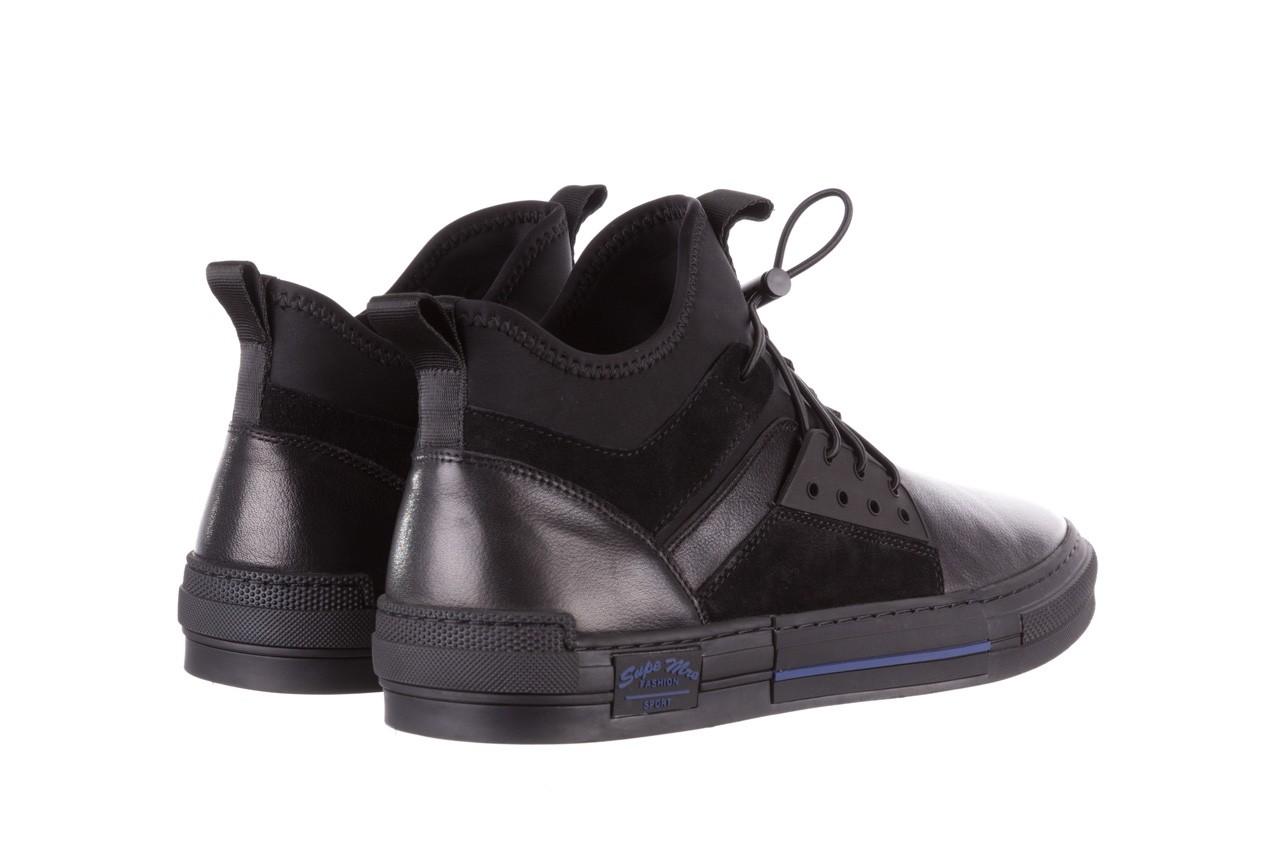 Trampki brooman x21f30r-1 black, czarny, skóra naturalna  - wysokie - trampki - buty męskie - mężczyzna 12