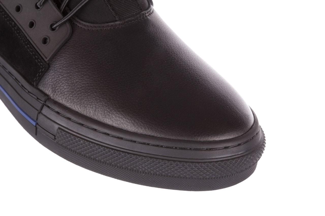 Trampki brooman x21f30r-1 black, czarny, skóra naturalna  - wysokie - trampki - buty męskie - mężczyzna 13