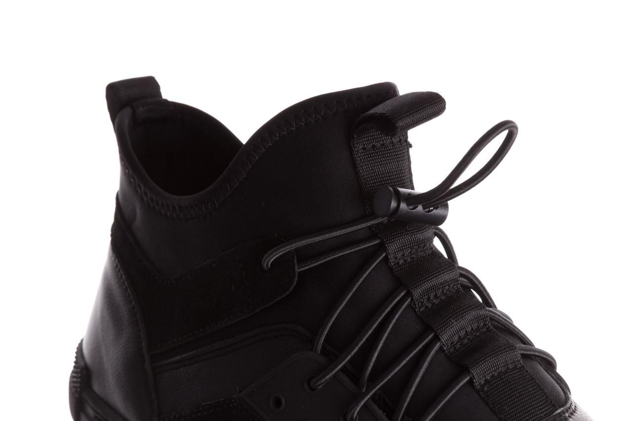 Trampki brooman x21f30r-1 black, czarny, skóra naturalna  - wysokie - trampki - buty męskie - mężczyzna 14