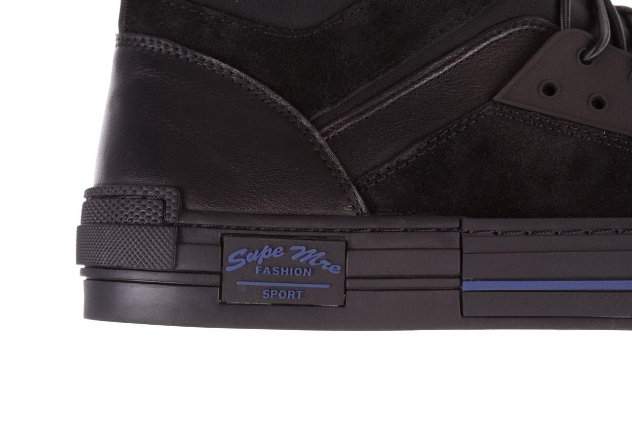 Trampki brooman x21f30r-1 black, czarny, skóra naturalna  - wysokie - trampki - buty męskie - mężczyzna 15