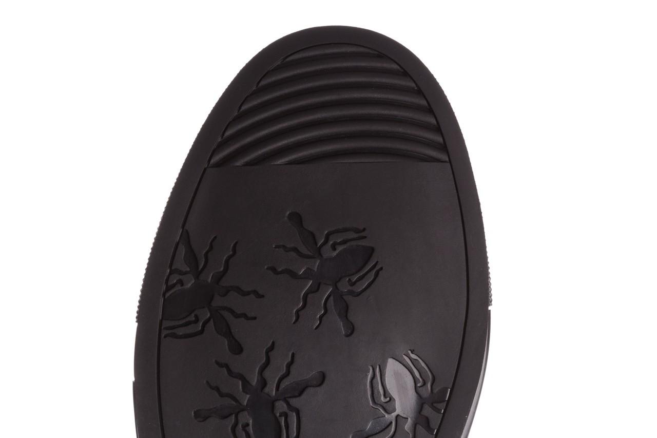 Trampki brooman x21f30r-1 black, czarny, skóra naturalna  - wysokie - trampki - buty męskie - mężczyzna 16