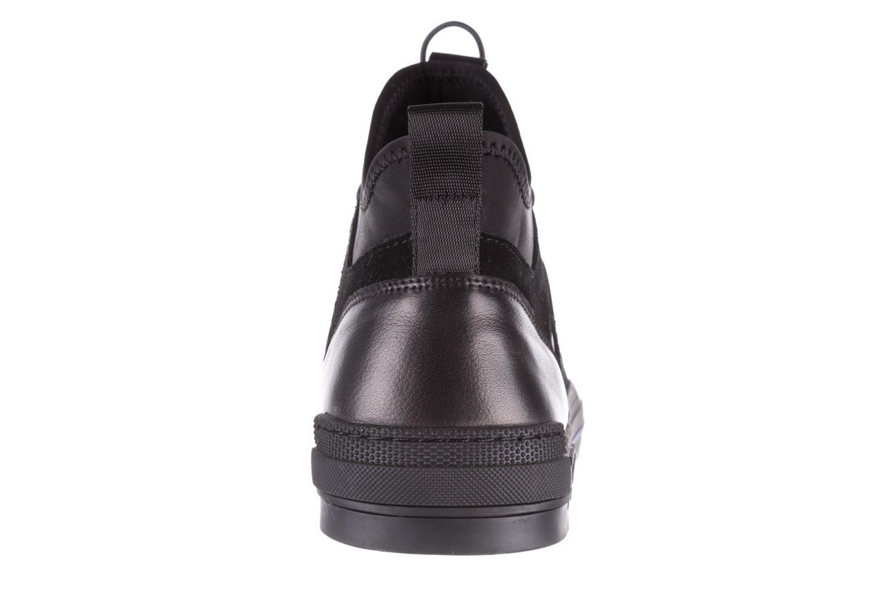 Trampki brooman x21f30r-1 black, czarny, skóra naturalna  - wysokie - trampki - buty męskie - mężczyzna 17