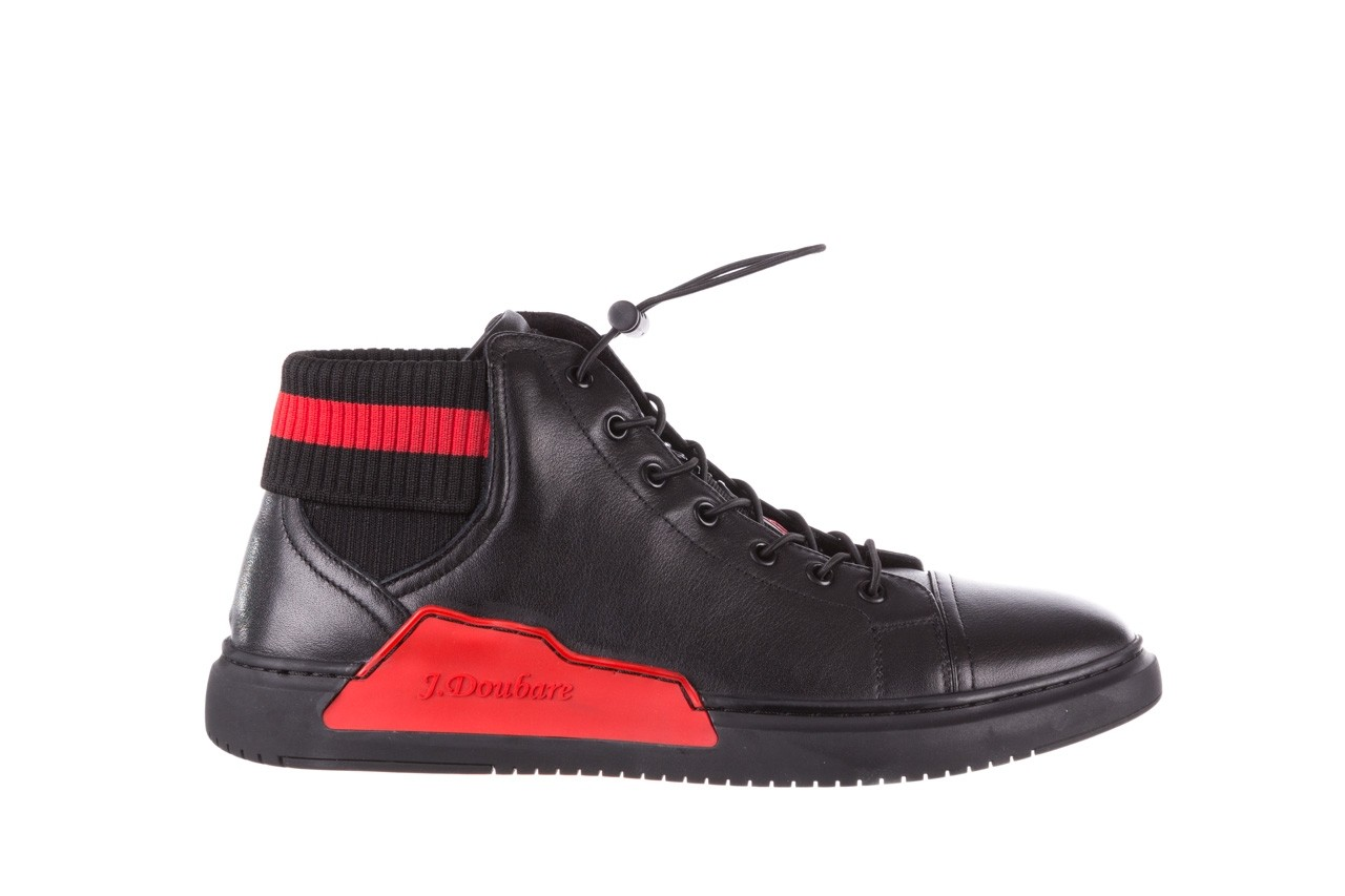Trampki john doubare fy-9609 black, czarny, skóra naturalna  - sale - buty męskie - mężczyzna 8