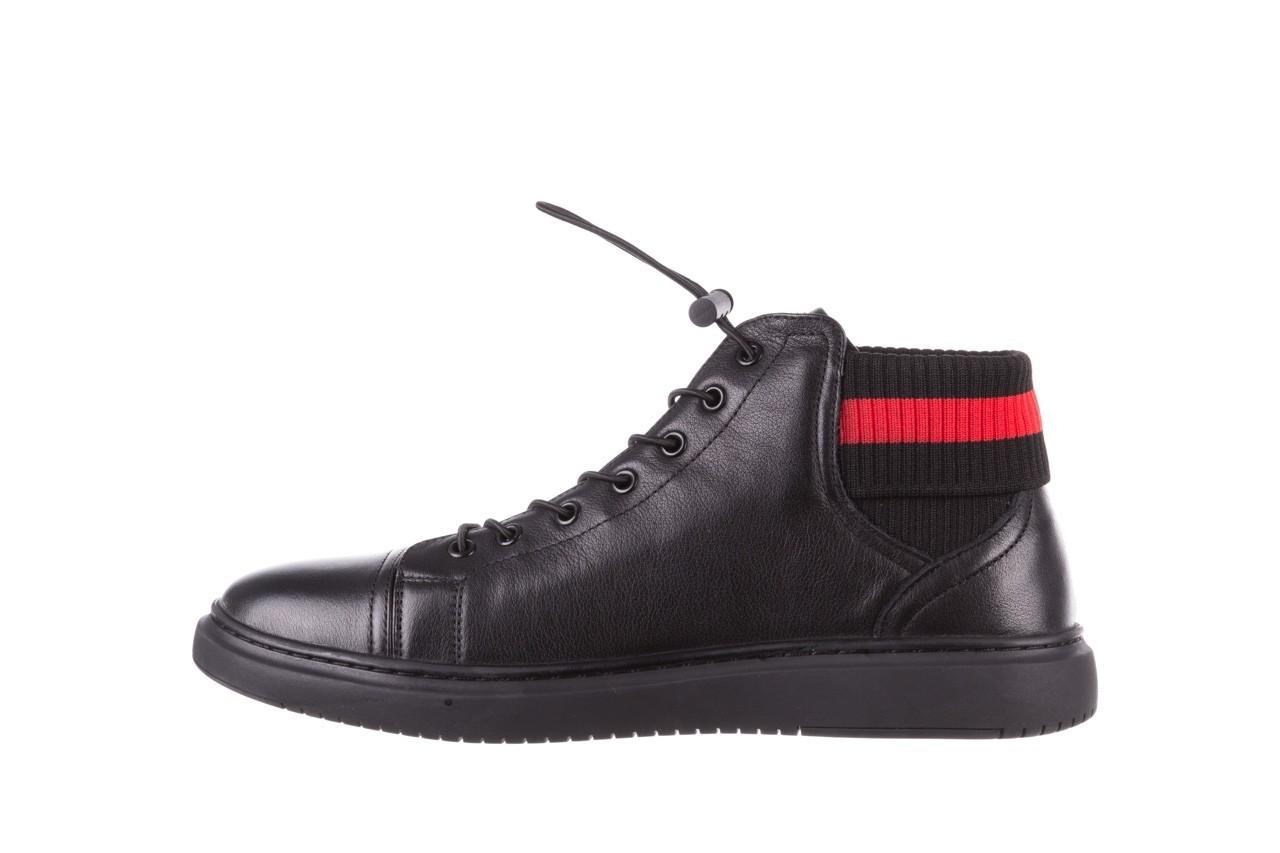 Trampki john doubare fy-9609 black, czarny, skóra naturalna  - sale - buty męskie - mężczyzna 10